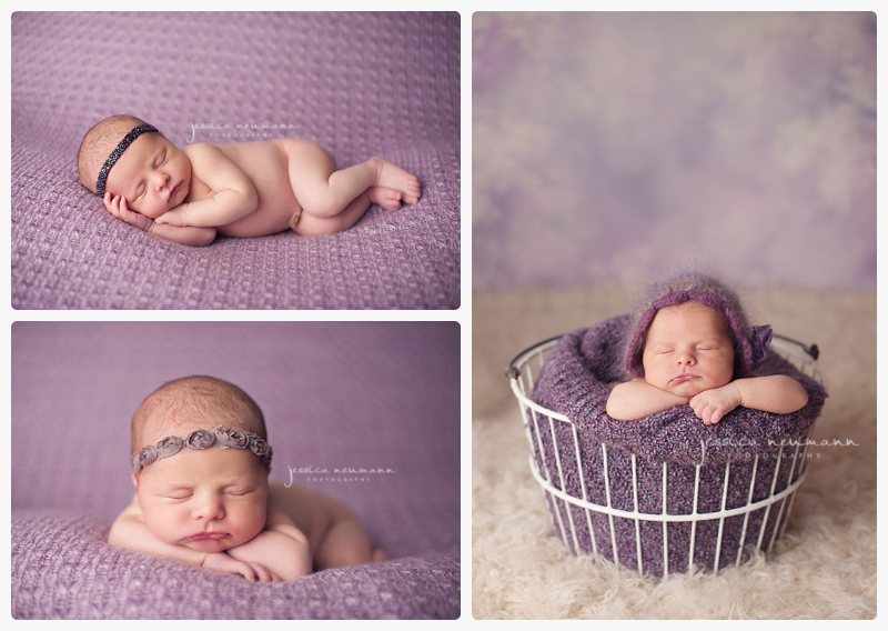 purple and newborns