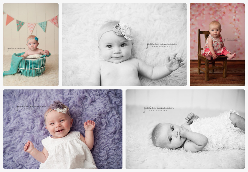 6 month old studio pictures