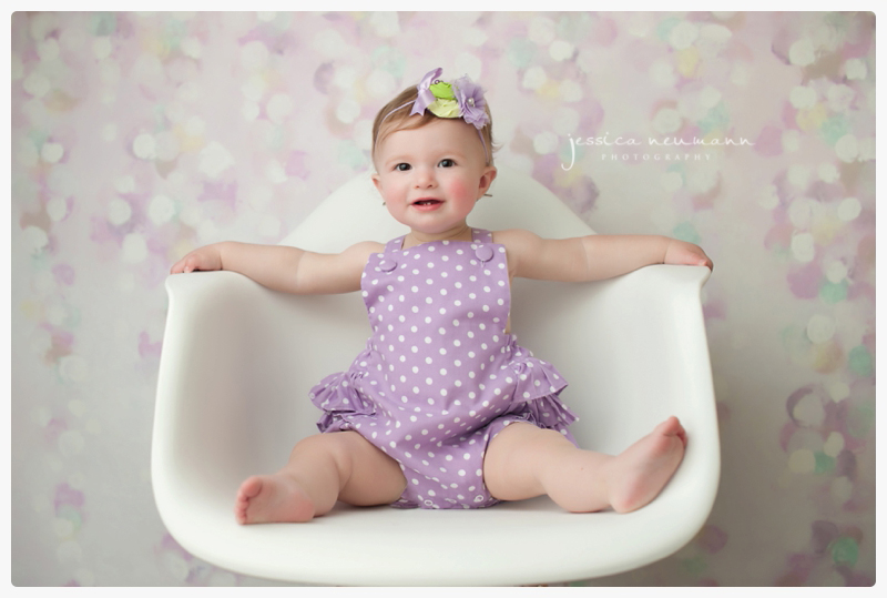 white and purple baby pictures