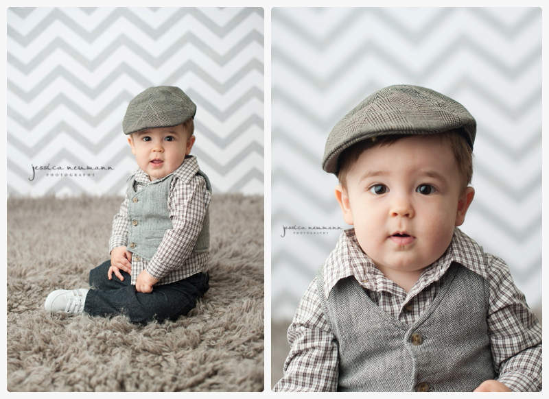 fedora hat on baby handsome 1 year old
