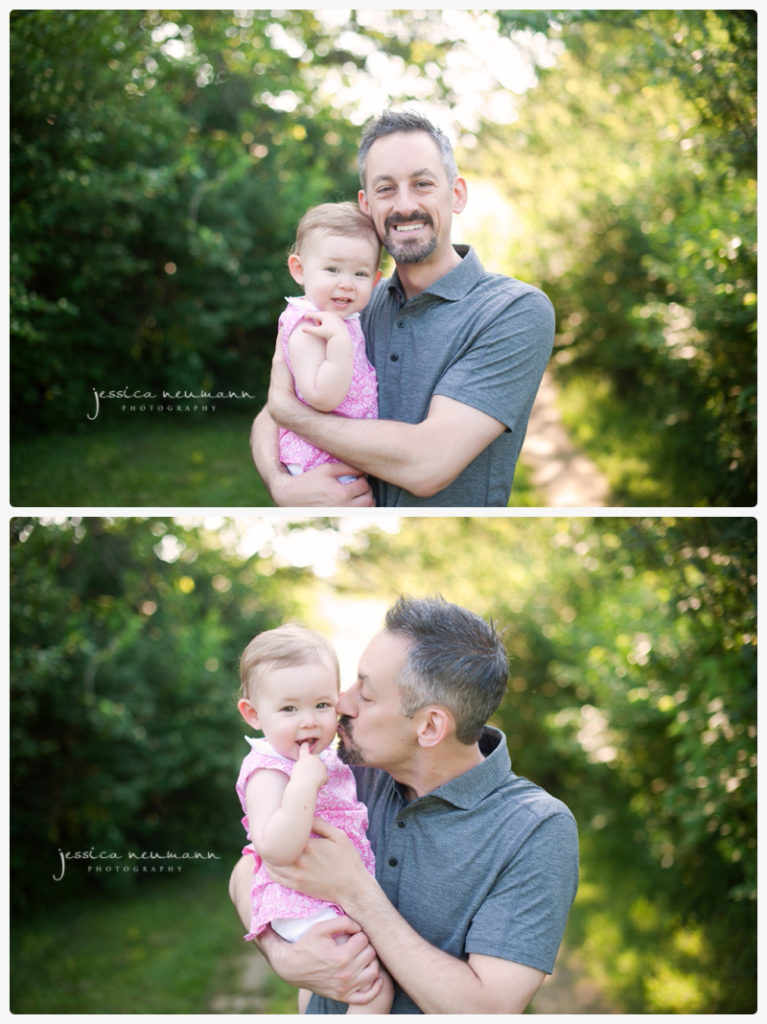 daddy and daughter kisses spring photography frederick md