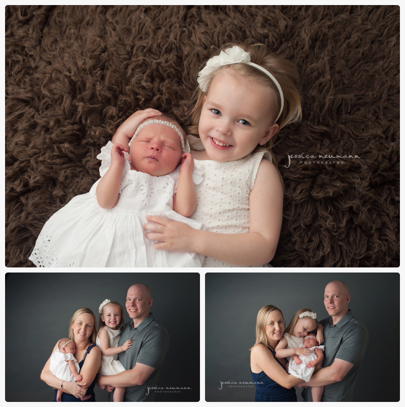 newborn images with sister and family frederick, md