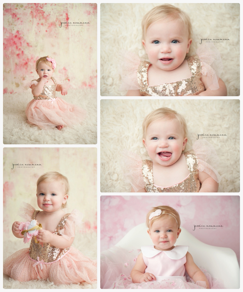 beautiful 1 year old blonde girl