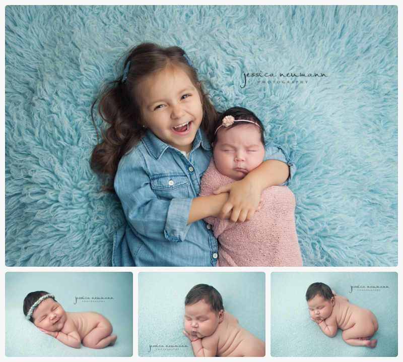 sibling photographs with newborn