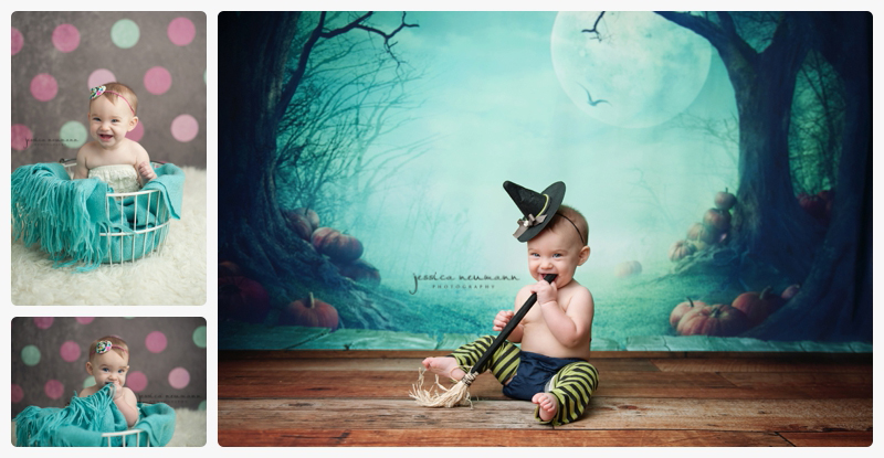 6 month old in witch costume
