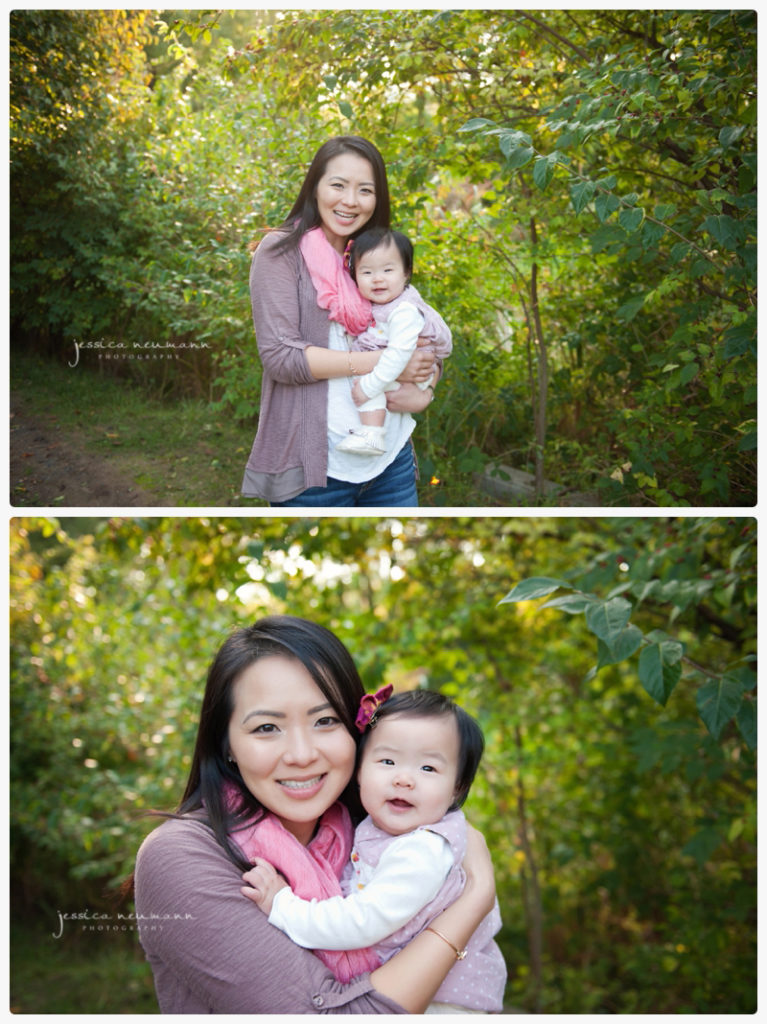 mom and baby outdoor images