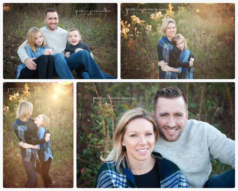 fall family shoot in field