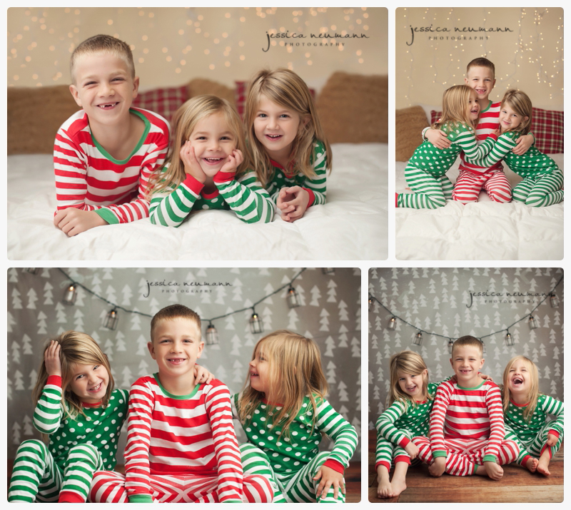 Christmas pajamas mini session