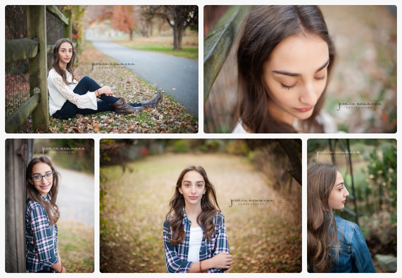 fall bokeh with teen