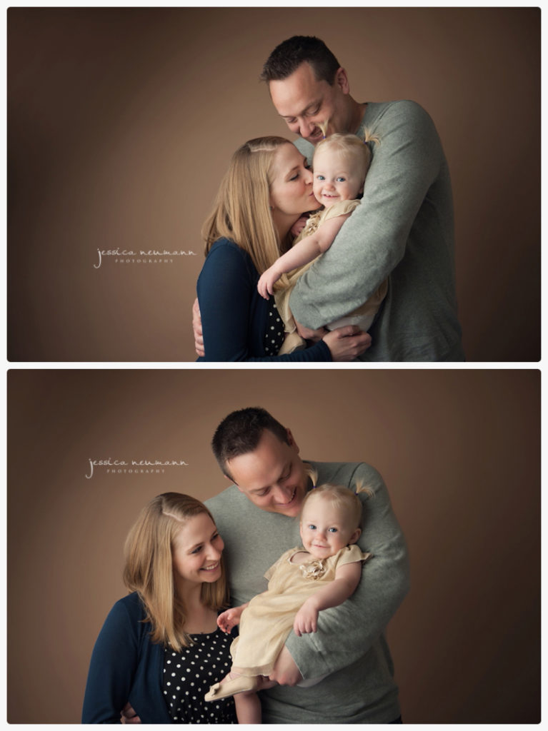studio images with 1 year old