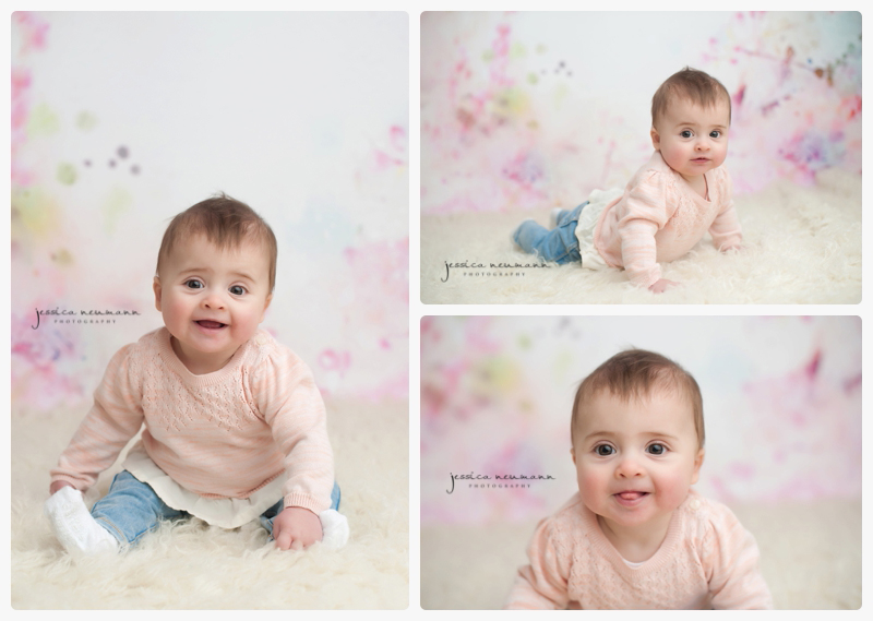 studio 6 month old baby with family