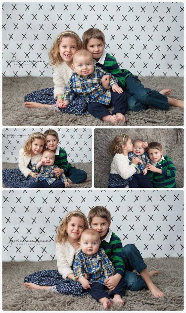 siblings in studio for photoshoot
