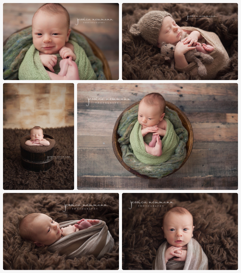 posed boy studio newborn session