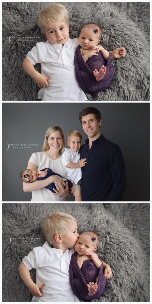 potomac md posed studio newborn photography