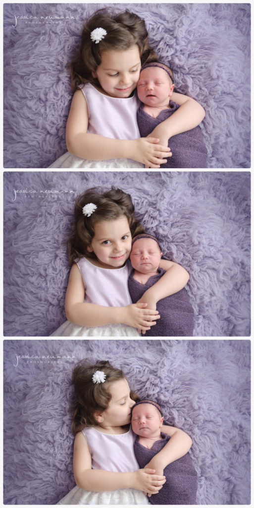 newborn and sibling studio photography