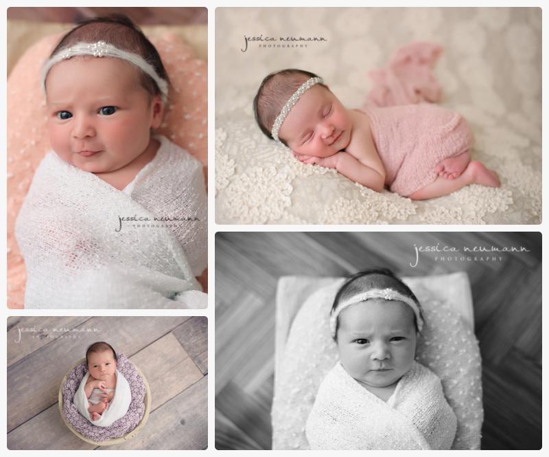 newborn girl awake for photography shoot