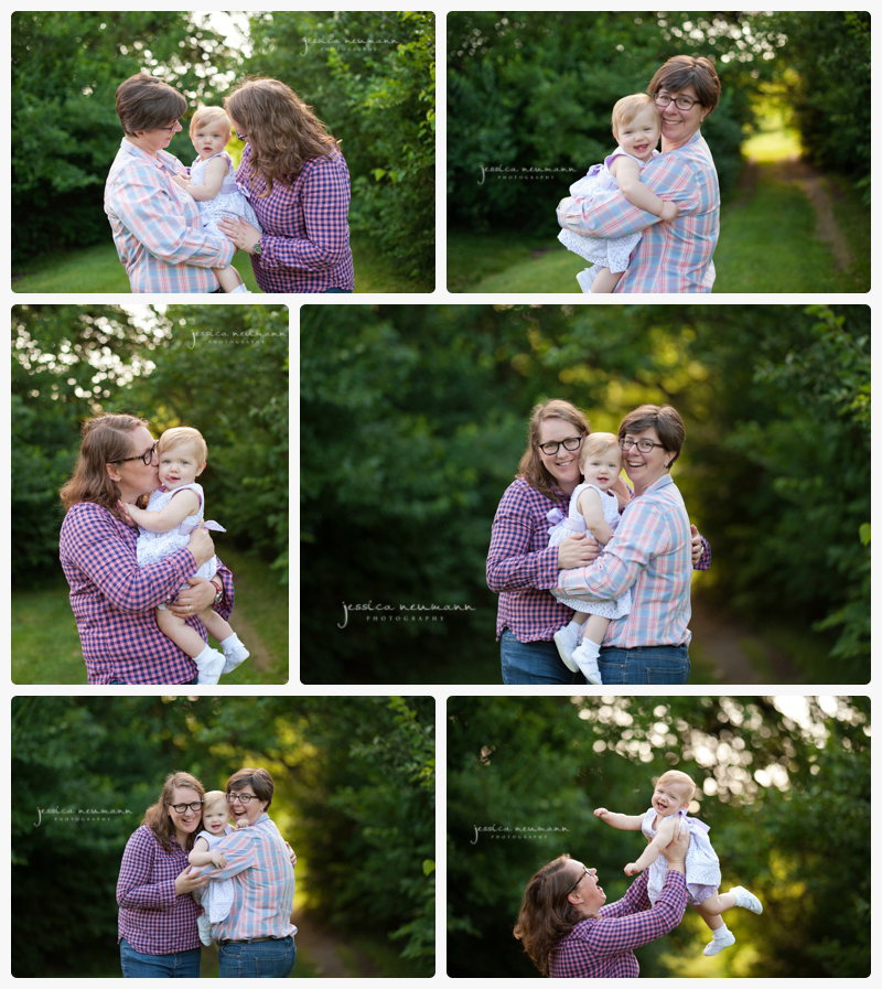 outdoor family session with 1 year old