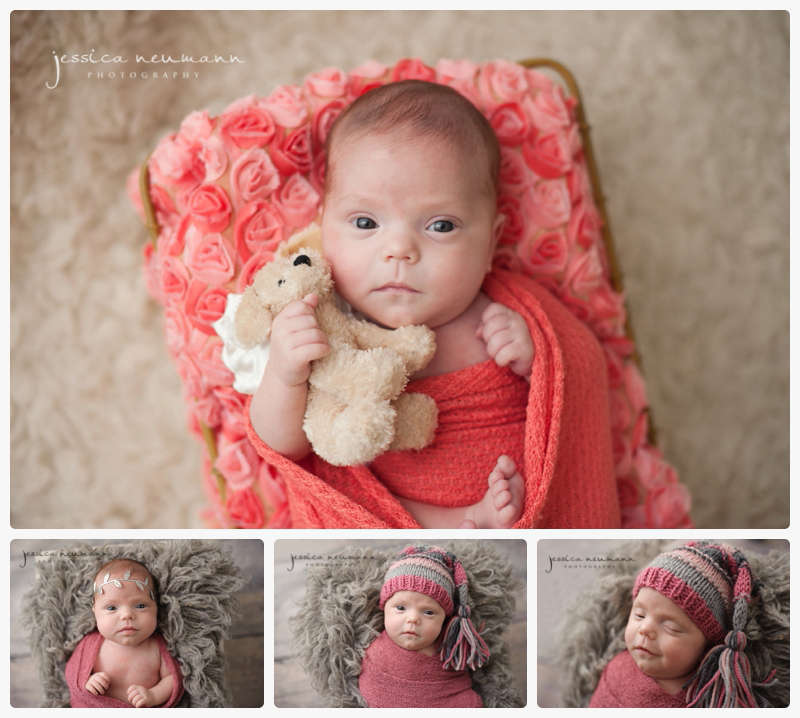 3 month preemie newborn posing
