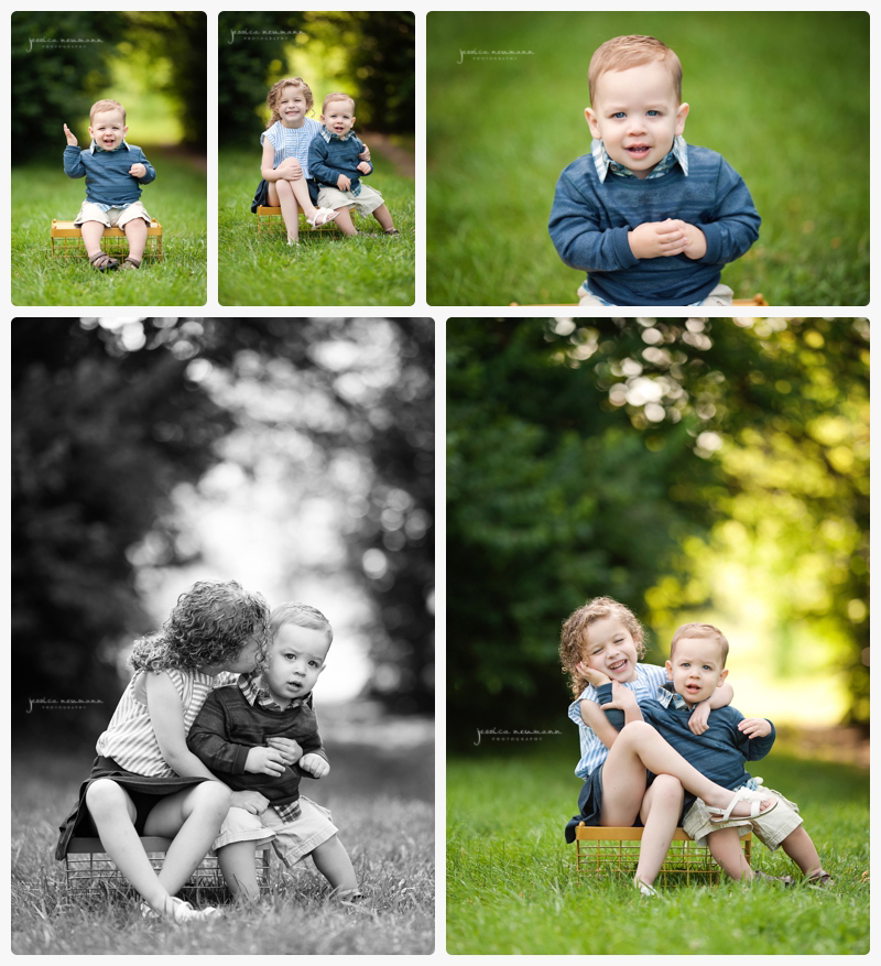 outdoor one year old session