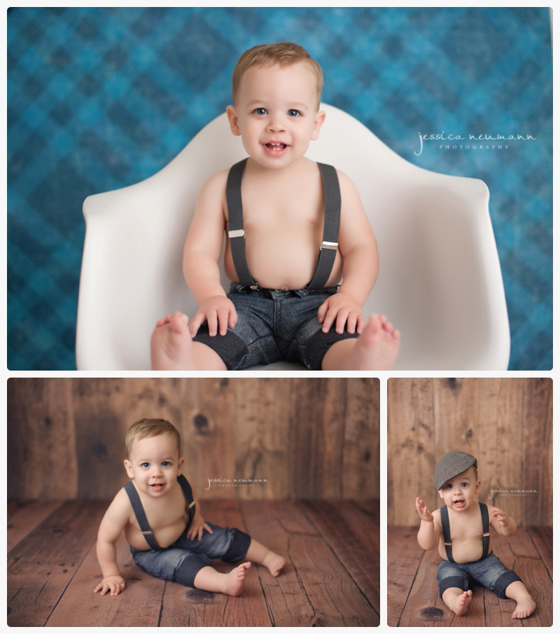 one year old studio pictures