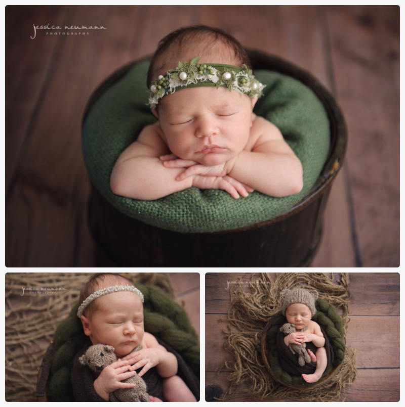 woodland themed newborn girl images