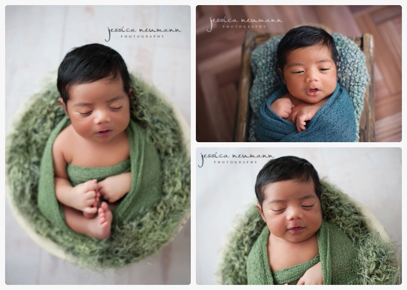 newborn boy photography session sleeping and posed