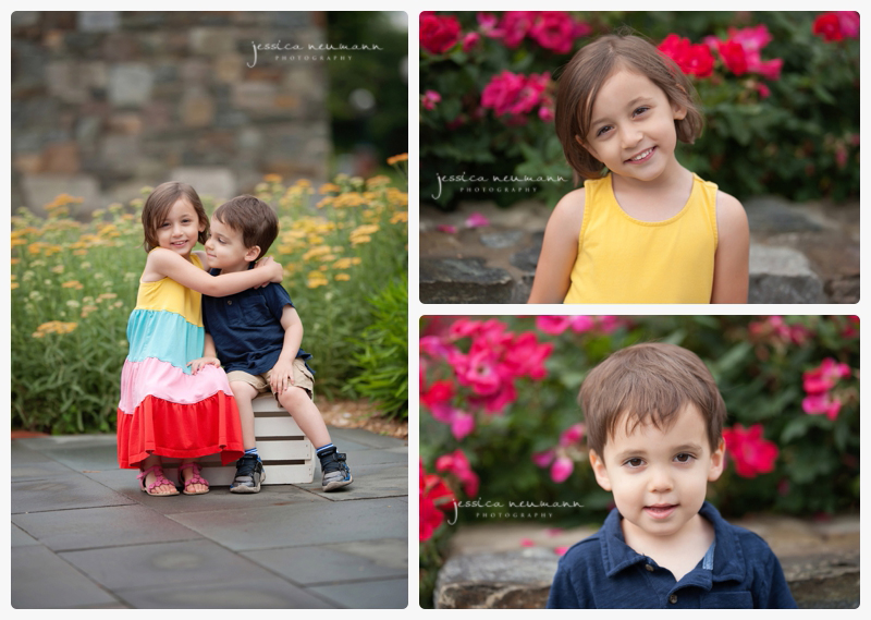 siblings in spring