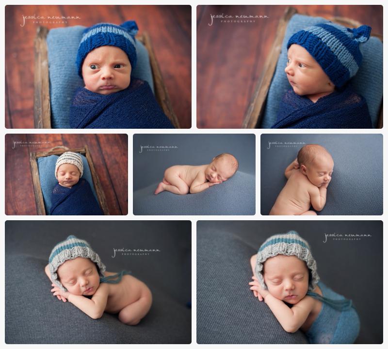 posed sleeping newborn baby boy