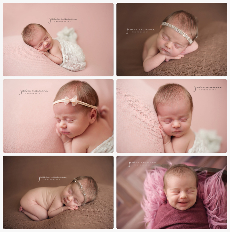 posed newborn session