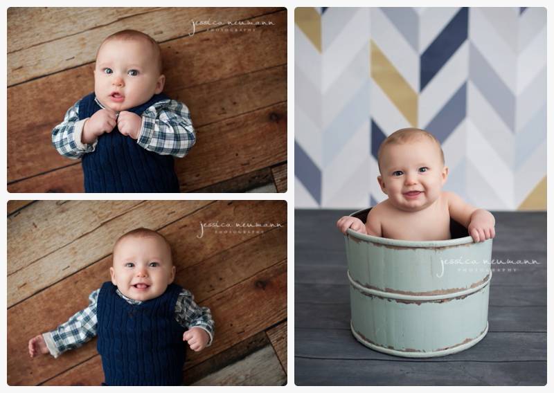 6 month old studio photoshoot
