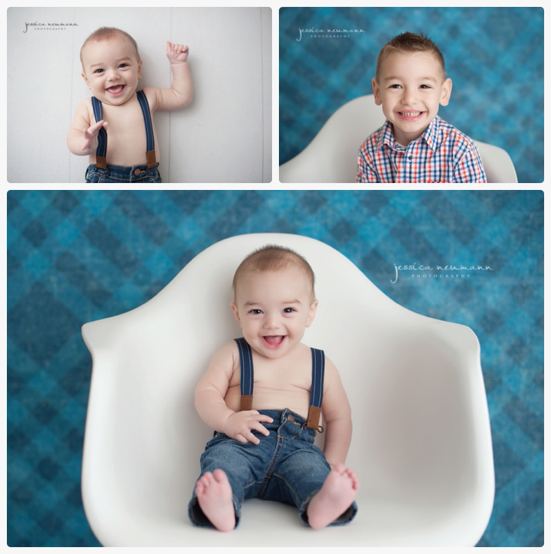 6 month old studio photo session