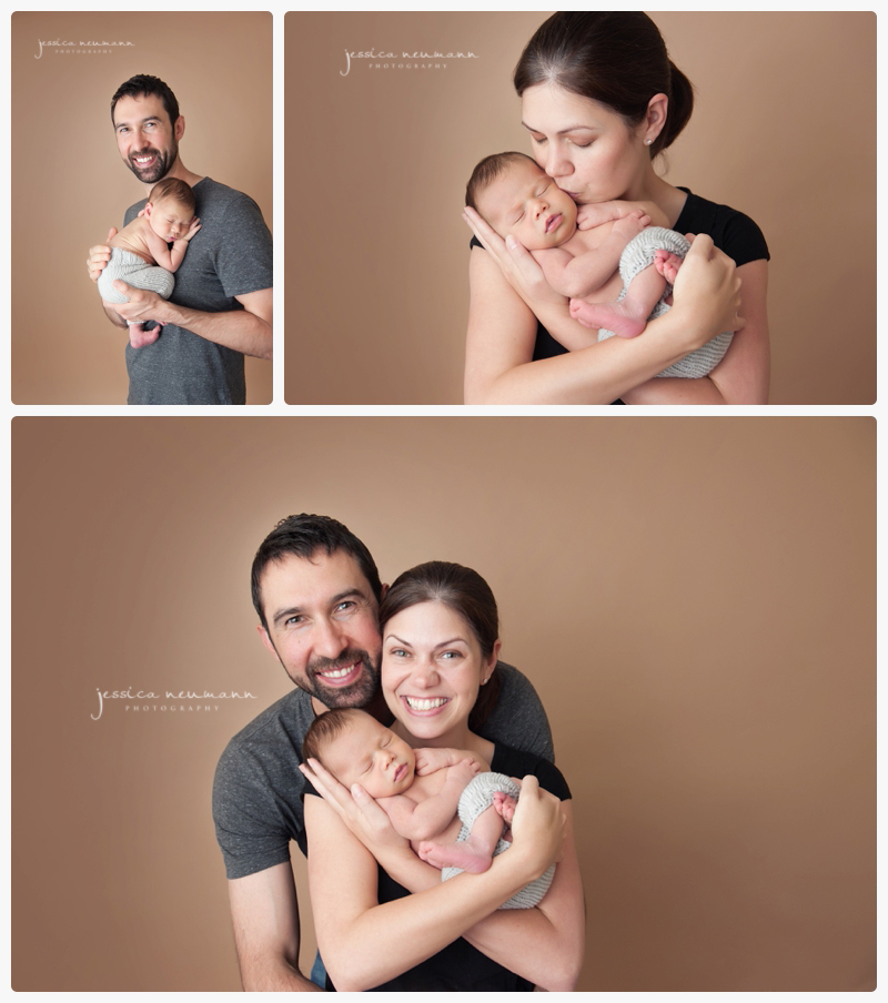 studio family session with newborn