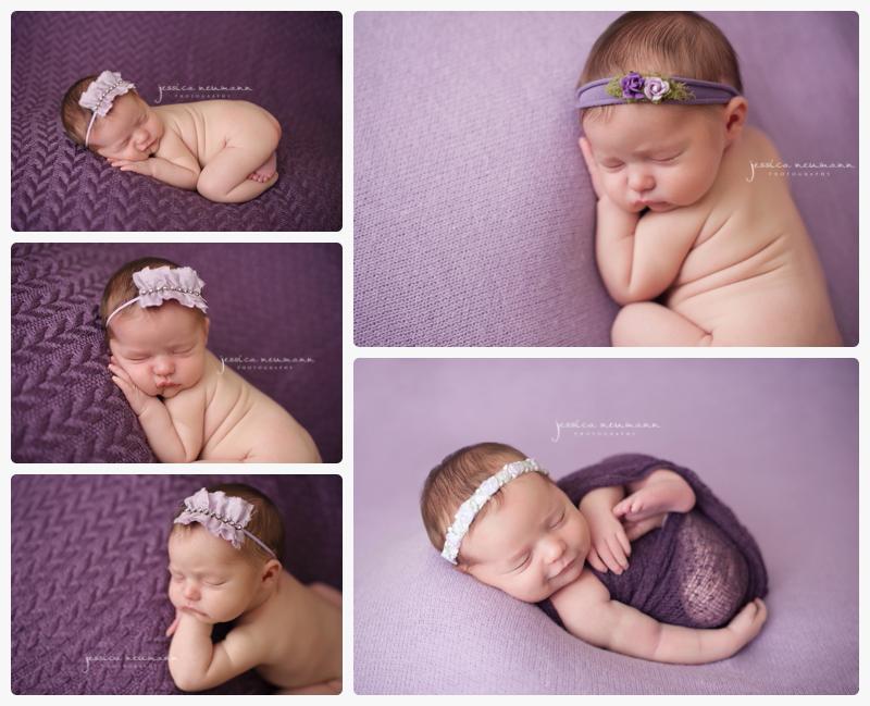 smile newborn girl posed images
