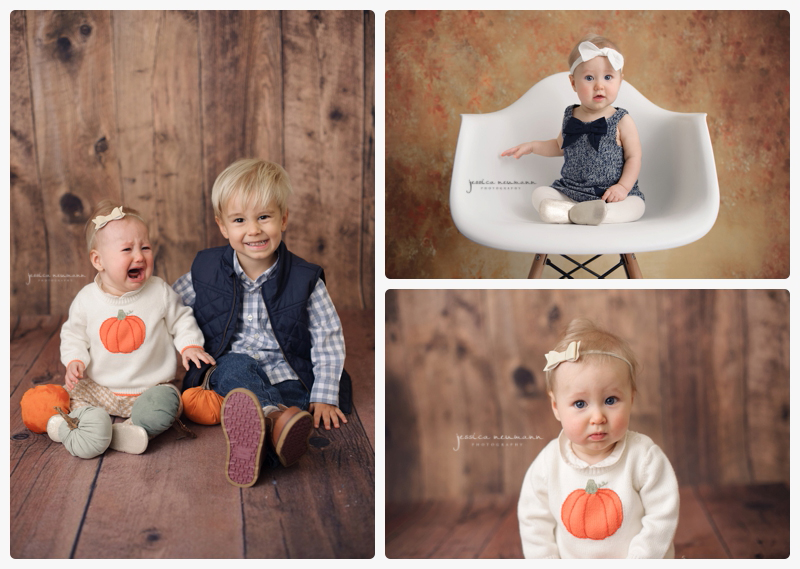 6 month old girl studio session