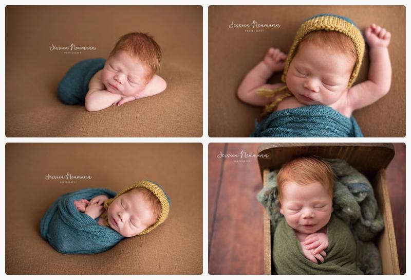 posed sleeping newborn