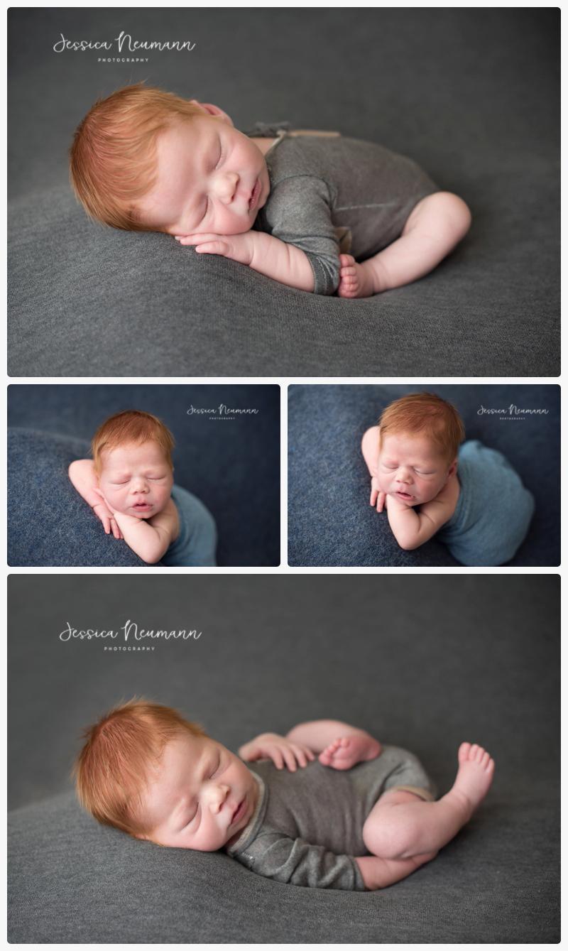 simple newborn posing