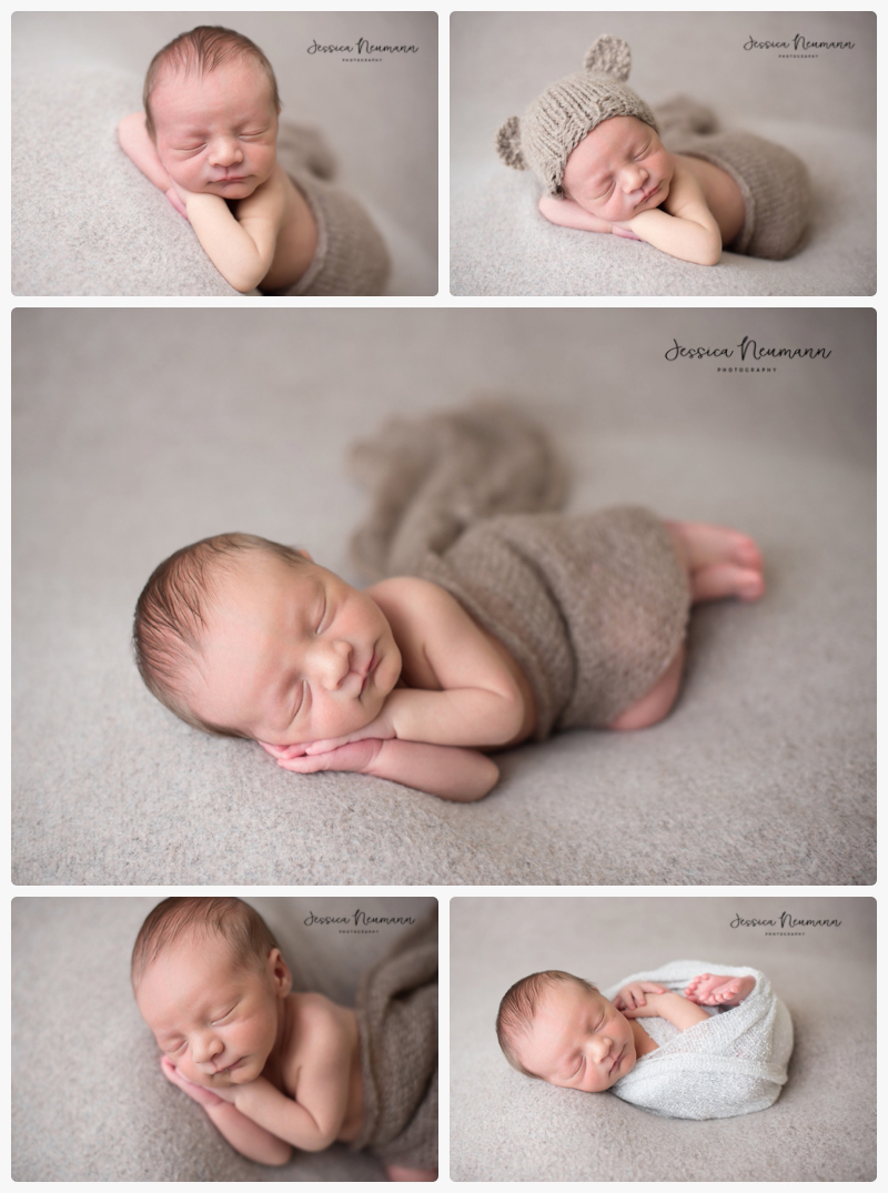 studio newborn with neutrals