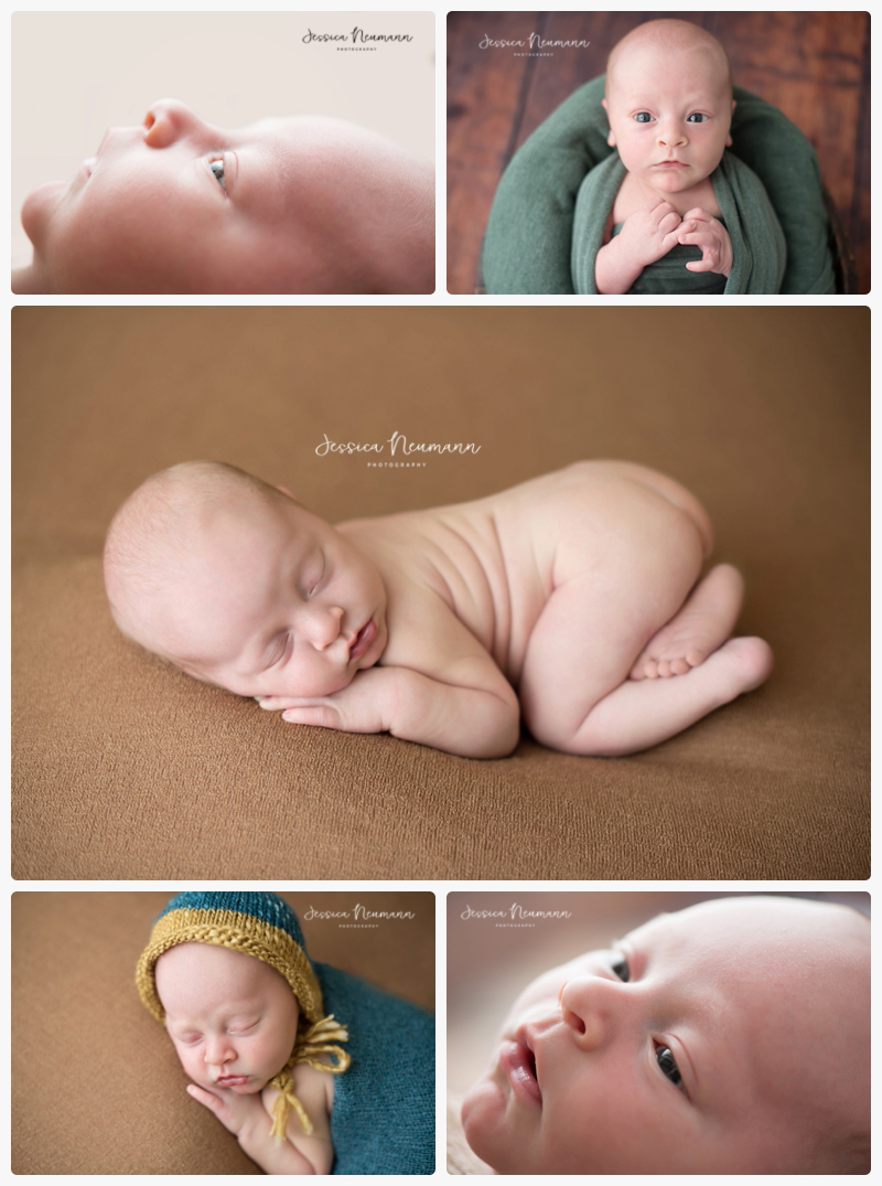 awake newborn boy