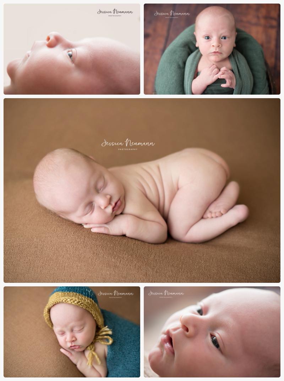 awake newborn boy