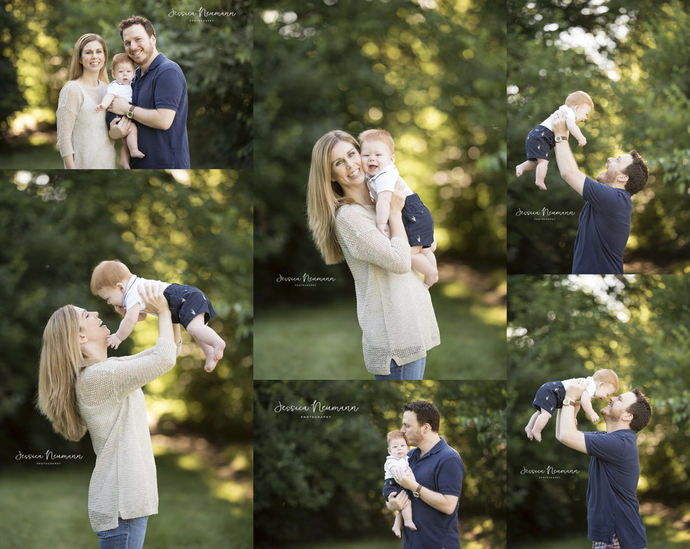 outdoor baby with family images