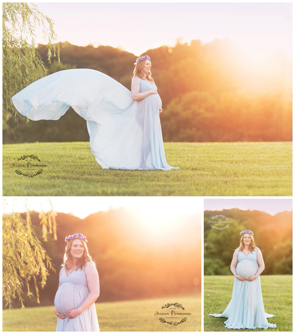 field maternity photography