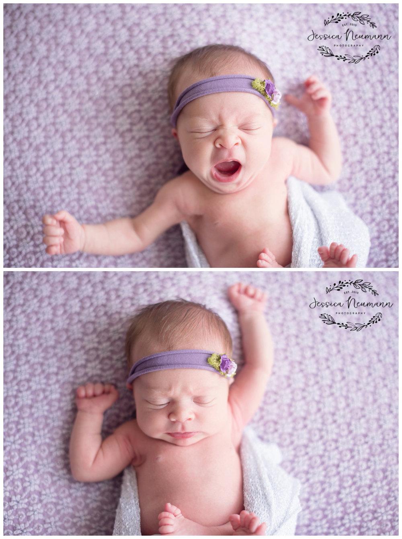 yawning newborn