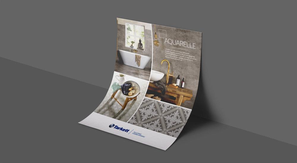 Våtrums-annons för Tarkett.