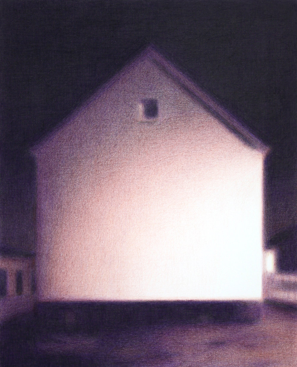 Steffen Kern,  O.T. (House), 25x20cm, Ölkreide auf Papier, 2018