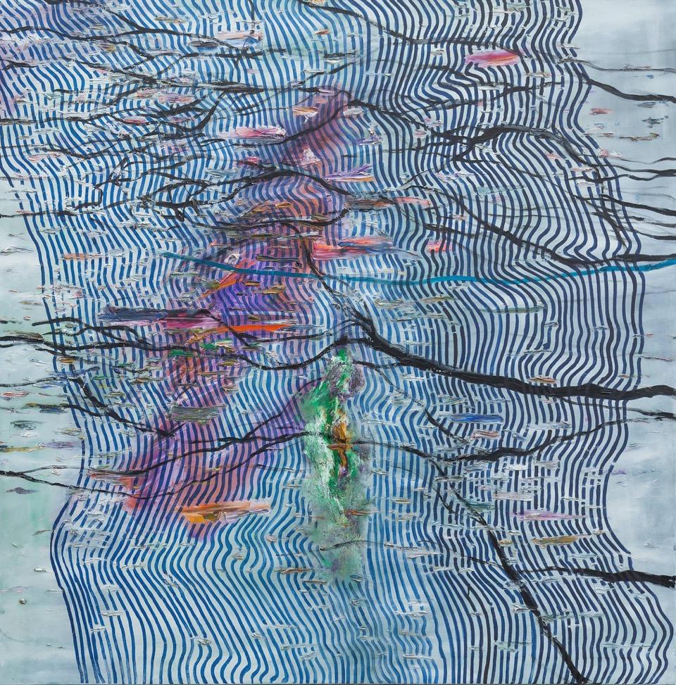 Synthetic Landscape 1, oil on canvas, 150x150cm, 2015.jpeg