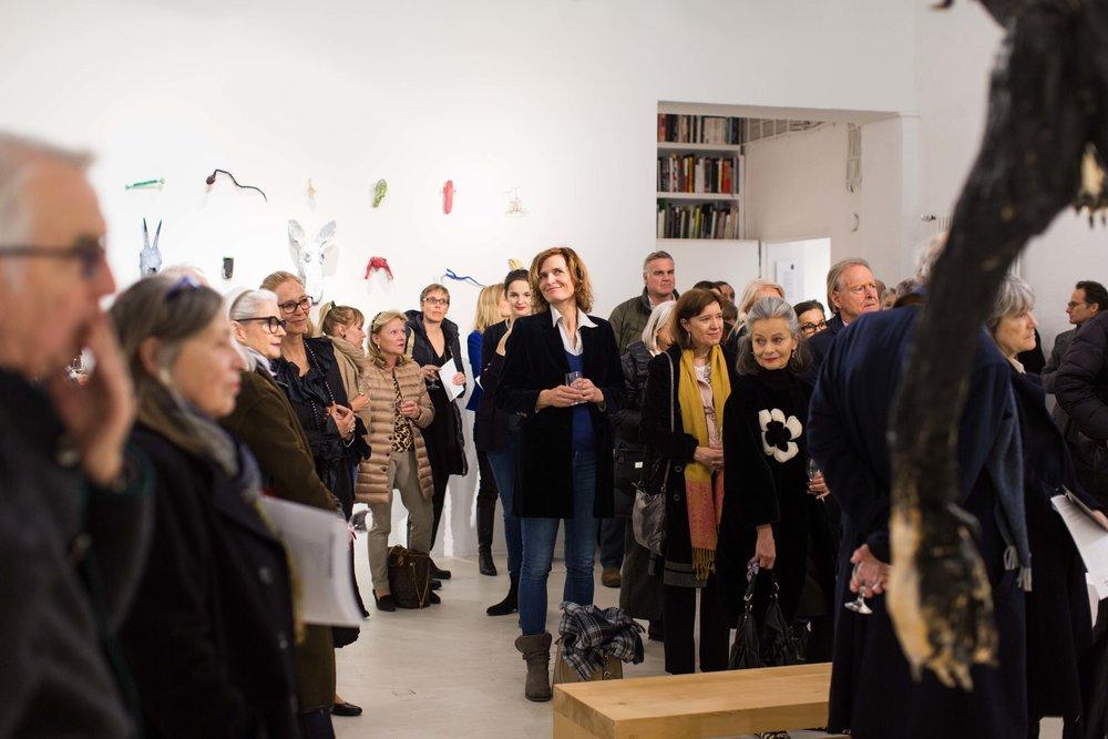 Eröffnung der Ausstellung von Veikko Hirvimäki durch Dr. Sonja Lechner , 2017