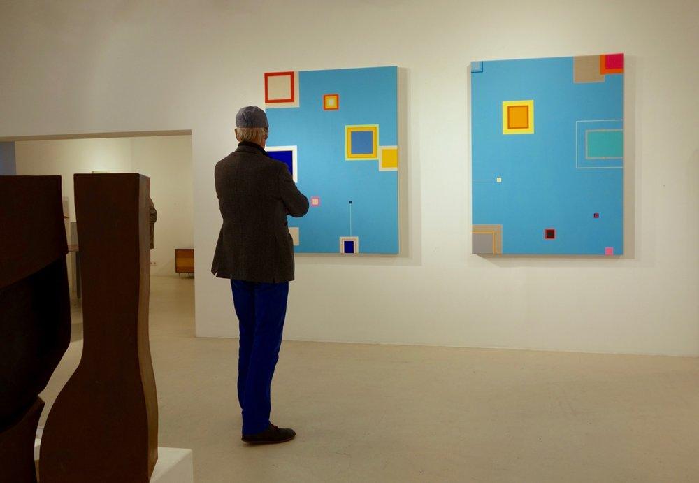 Ausstellungsansicht der Ausstellung: Richard Schur-Sound of Color, 2017