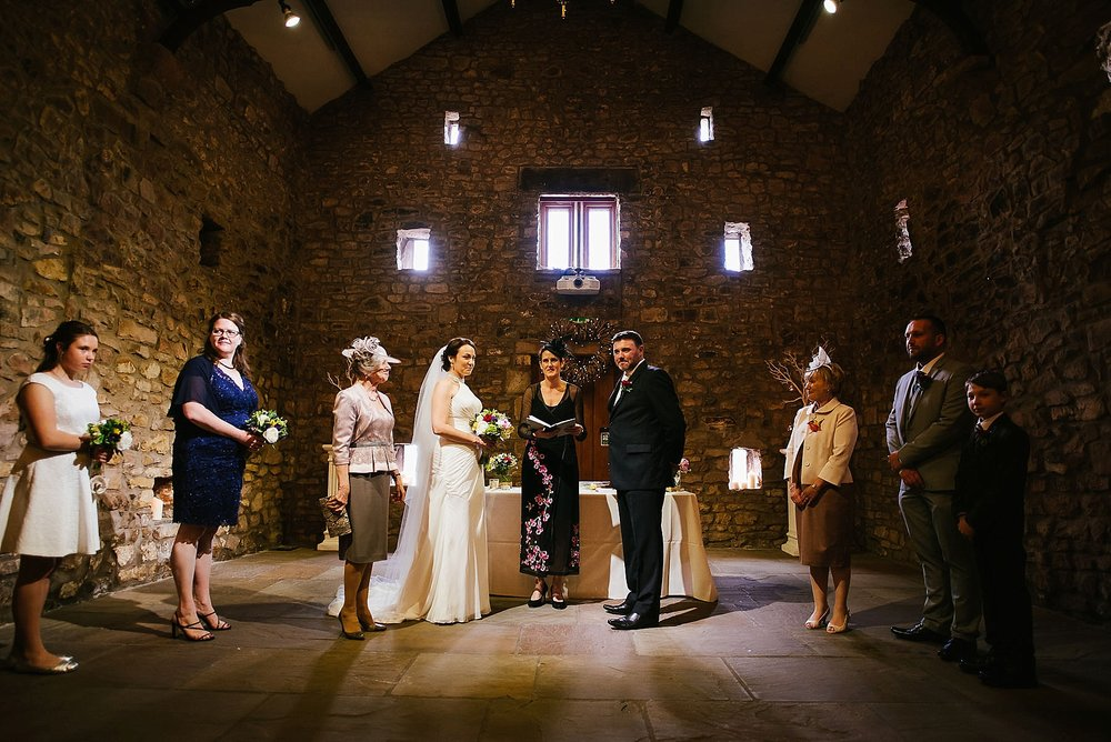 Browsholme hall humanist wedding photograph