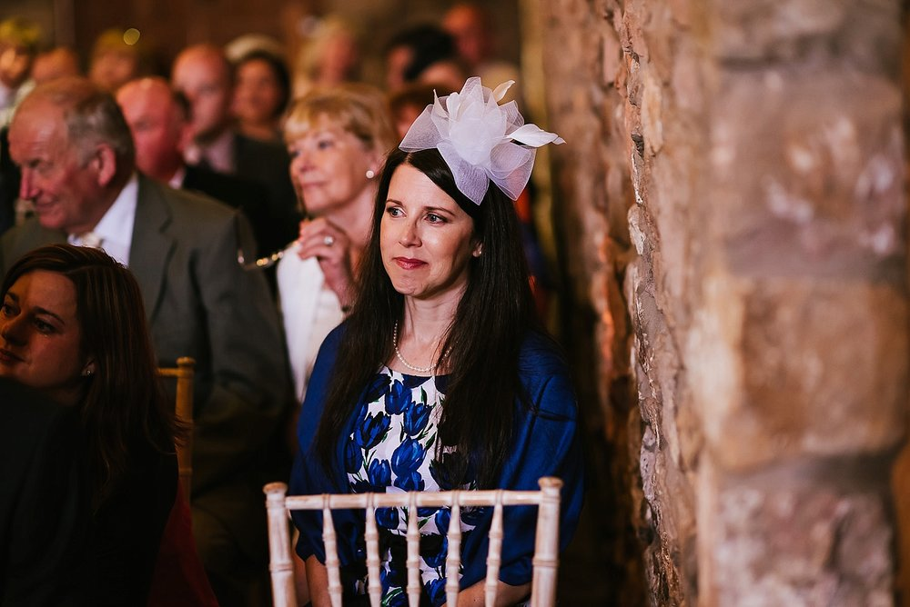 wedding guest looking emotional