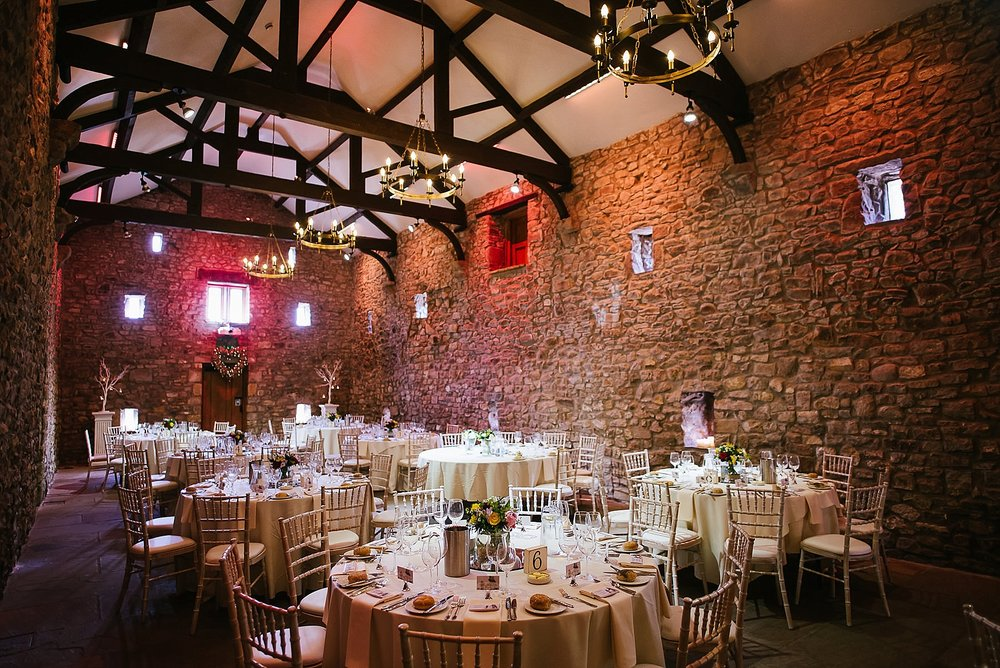 browsholme wedding breakfast room set up